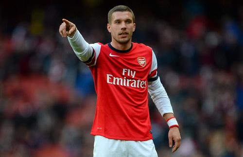 Lukas Podolski se chia tay Arsenal vao cuoi mua giai?