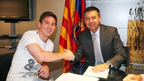 Deportivo vs Barcelona Messi la nguoi lanh dao Barca hinh anh