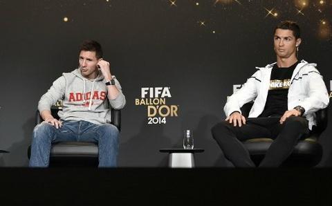 Gianh QBV FIFA 2014, Ronaldo bat ngo len tieng khen Messi hinh anh