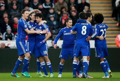 Huy diet Swansea 5-0, Jose Mourinho bat dau mo vo dich Premier League hinh anh