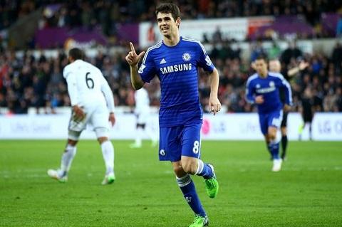 Oscar phan  khich tot do trong ngay Chelsea thang hoa truoc Swansea hinh anh
