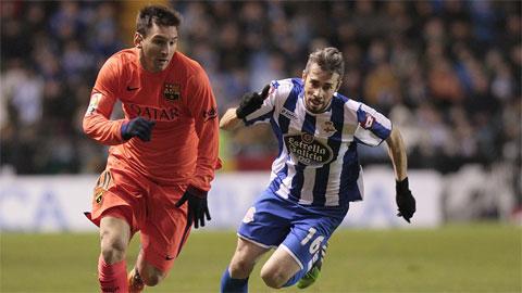 Barca thang dam tieu tot, Luis Enrique lai dua Messi len may hinh anh