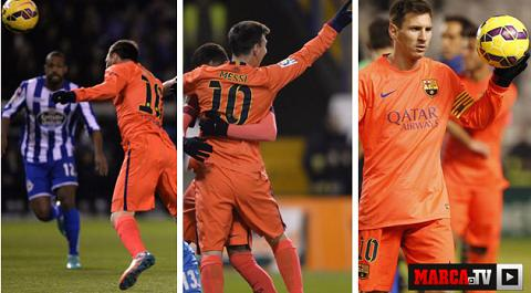 Messi lap hat-trick thu 30 cho Barca, ap sat ky luc cua Ronaldo hinh anh