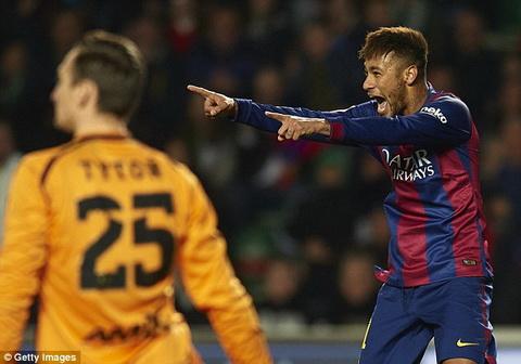 Video ban thang Elche 0-6 Barcelona (Vong 20 La Liga 2014-2015) hinh anh