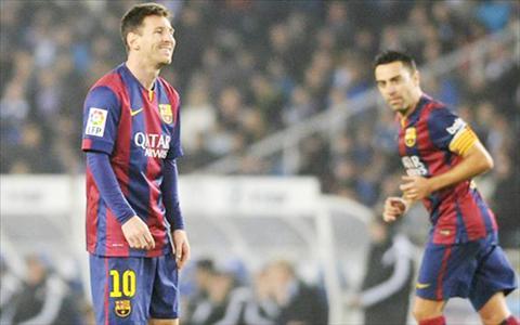 Messi ngoi du bi trong tran voi Sociedad vi dau da day hinh anh
