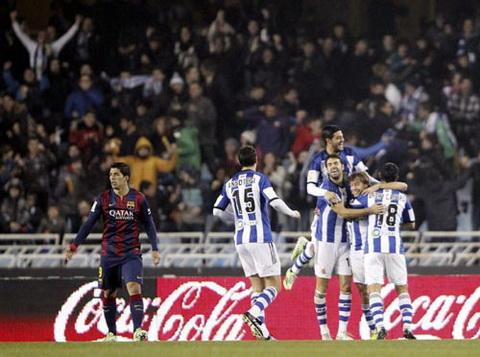 Video ban thang Sociedad 1-0 Barcelona (Vong 17 La Liga) hinh anh
