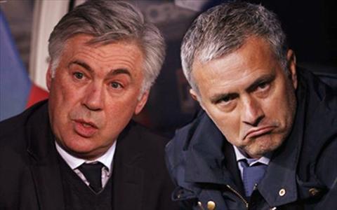 Carlo Ancelotti 'an dut' Jose Mourinho hinh anh