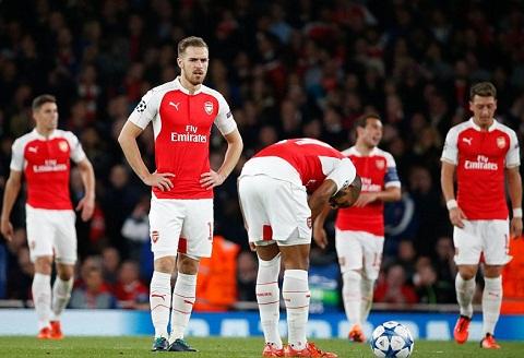 Arsenal co the bi loai ngay tu vong bang Champions League 201516 hinh anh
