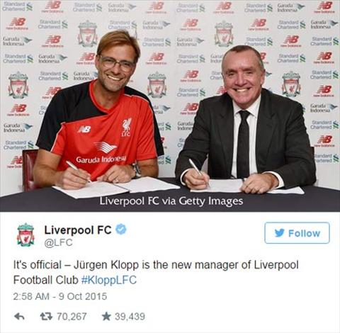 Fan Liverpool lap ky luc ve do cuong danh cho Klopp  hinh anh