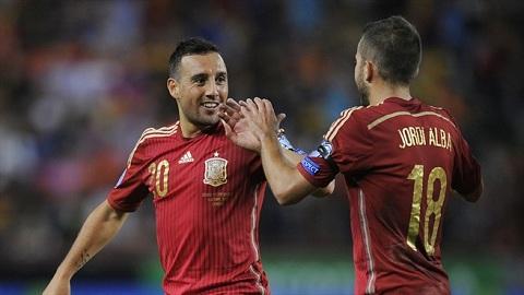 Nam ban thang dep nhat cua tuyen Tay Ban Nha o vong loai Euro 2016 hinh anh
