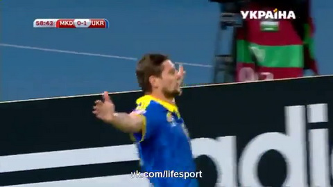 Video clip ban thang Macedonia 0-2 Ukraine (Vong loai Euro 2016) hinh anh
