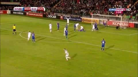 Video clip ban thang Moldova 1-2 Nga (Vong loai Euro 2016) hinh anh