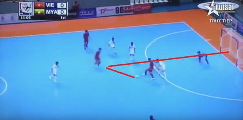 Vu Neymar toa sang, Futsal Viet Nam thang kich tinh Myanmar hinh anh