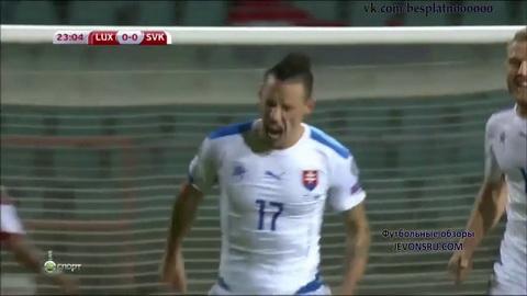 Video clip ban thang Luxembourg 2-4 Slovakia (Bang C - Vong loai Euro 2016) hinh anh