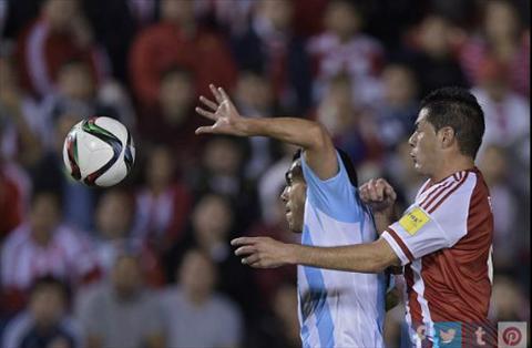 Video clip ban thang Paraguay vs Argentina 0-0 Vong loai World Cup hinh anh