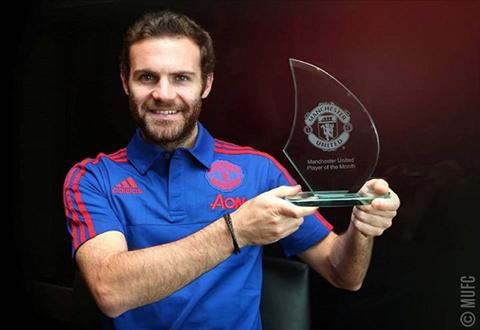Juan Mata duoc MU vinh danh trong thang 9 hinh anh