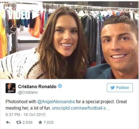 Ronaldo va thien than Victoria's Secret dinh voi nhau lam nhiem vu toi mat hinh anh 2