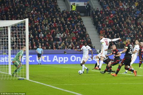Tong hop, tuong thuat Leverkusen vs 4-4 AS Roma vong bang cup C1 2015 hinh anh 2