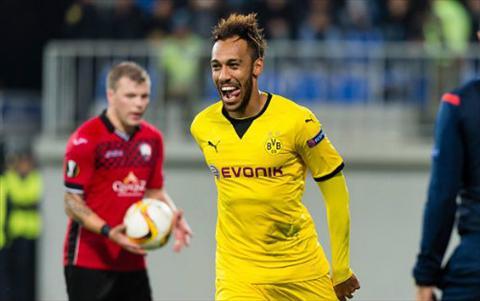 Qabala 1-3 Dortmund Sieu nhan Aubameyang  hinh anh