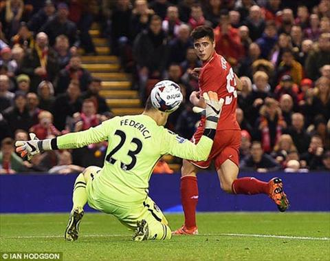 Video clip ban thang Liverpool 1-0 Bournemouth (Cup Lien doan Anh 20152016) hinh anh