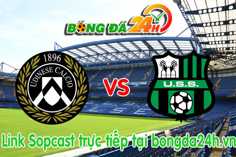 Link sopcast xem truc tiep Udinese vs Sassuolo (21h00-0111) hinh anh