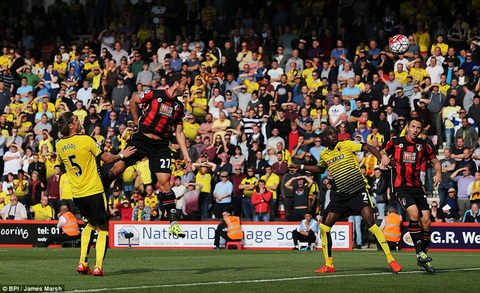 Video clip ban thang Bournemouth 1-1 Watford (Vong 8 Premier League 201516) hinh anh