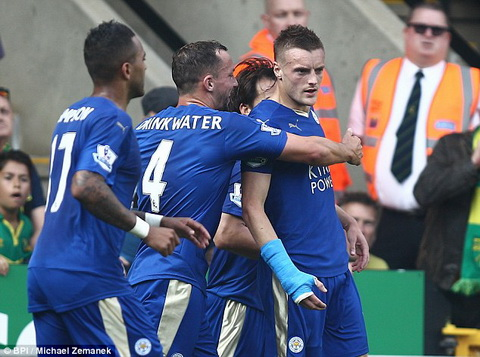 Video clip ban thang Norwich City 1-2 Leicester City (Vong 8 Premier League 201516) hinh anh