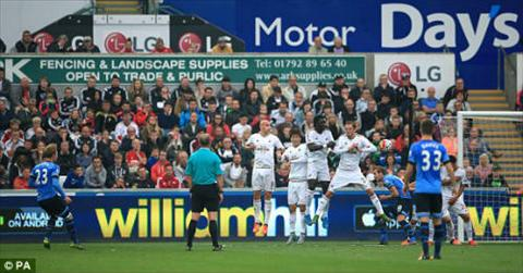 Video clip ban thang Swansea 2-2 Tottenham (Vong 8 Premier League 201516) hinh anh