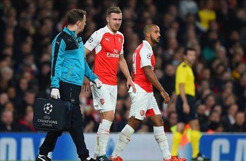Arsenal HLV Arsene Wenger co Chamberlain, Ramsey, Bellerin tro lai hinh anh