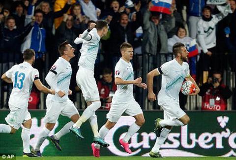 Video clip ban thang Slovenia 1-1 Ukraine (Playoff Euro 2016) hinh anh
