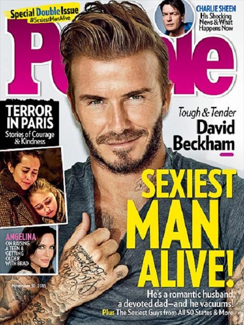 David Beckham la Nguoi dan ong hap dan nhat hanh tinh nam 2015 hinh anh