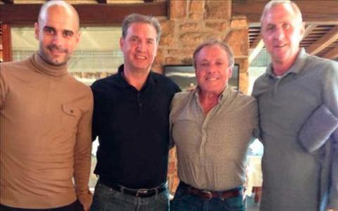 Pep Guardiola tới Barcelona thăm Johan Cruyff