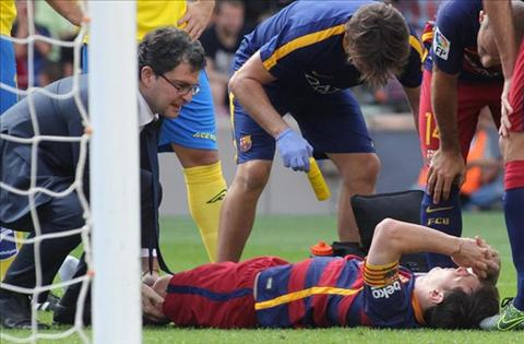 Messi chan thuong