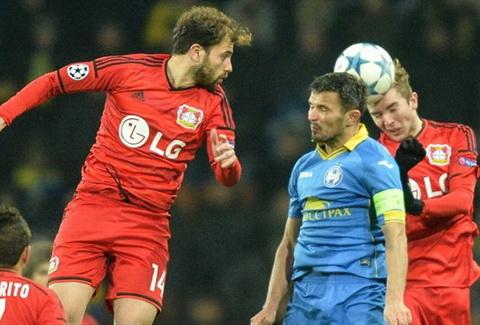 Video clip ban thang BATE 1-1 Leverkusen (Bang E Champions League 201516) hinh anh