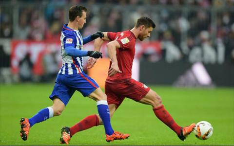 Video clip ban thang Bayern 2-0 Hertha Berlin (Vong 14 Bundesliga 201516) hinh anh