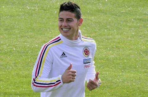 Real muon gia han hop dong voi tien ve James Rodriguez hinh anh