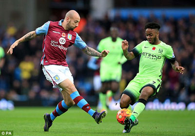 Video clip ban thang Aston Villa 0-0 Man City (Vong 12 Ngoai hang Anh 201516) hinh anh