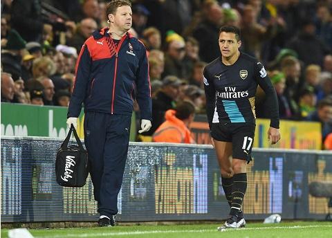Alexis Sanchez dinh chan thuong khong qua nang hinh anh