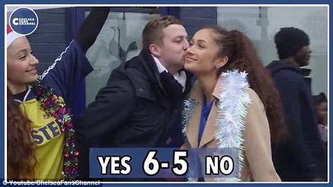 CDV Tottenham tich cuc hon fan nu  Chelsea nhiet tinh hinh anh