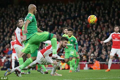 Video clip ban thang Arsenal 3-1 Sunderland (Vong 15 Premier League 201516) hinh anh