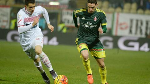 Video clip ban thang Carpi 0-0 AC Milan (Vong 15 Serie A 20152016) hinh anh