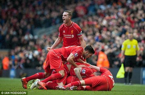 Du am Liverpool vs Man City Jordan Henderson vui mung khon ta hinh anh