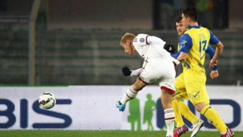 Video ban thang Chievo 0-0 AC Milan (Vong 25 Serie A 2014-2015) hinh anh