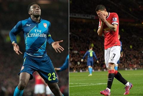 Du am MU 1-2 Arsenal Buc tranh tuong phan giua Di Maria va Welbeck hinh anh