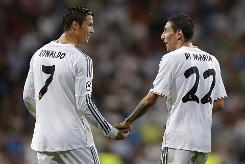 Ronaldo va Di Maria hinh anh