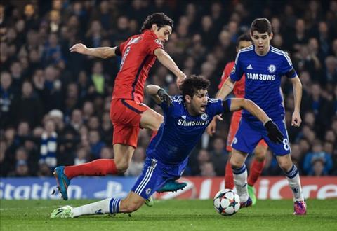 Diego Costa mờ nhạt trong trận Chelsea vs PSG hình ảnh
