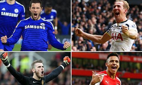 5 ung vien cho danh hieu cau thu xuat sac nhat Premier League 20142015 hinh anh