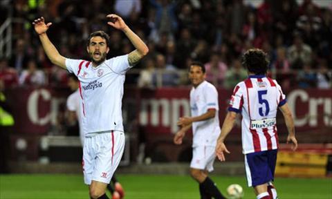Video ban thang Sevilla 0-0 Atletico Madrid (Vong 25 La Liga 2014-2015) hinh anh