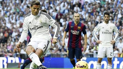 Thong ke: Ronaldo ghi ban nhieu hon Messi la nho penalty