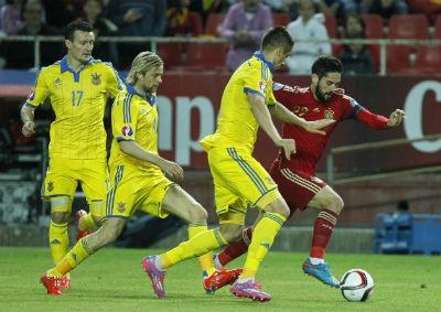 Video ban thang TBN 1-0 Ukraine (Vong loai Euro 2016) hinh anh